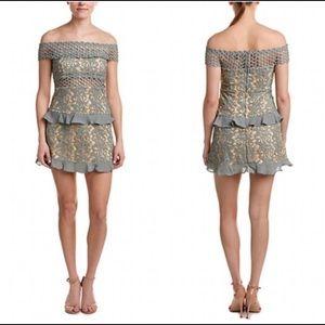 Romeo & Juliet Couture Off Shoulder Crochet Dress